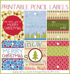 Christmas Pencil Tags Holiday Printables