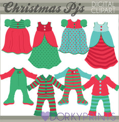 Holiday Pajamas Christmas Clipart