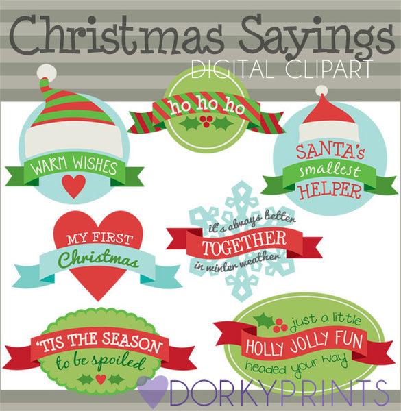 Banner Sayings Christmas Clipart