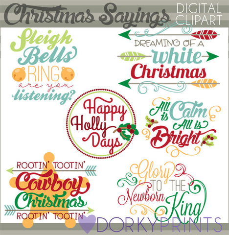 Fun Quotes Christmas Clipart