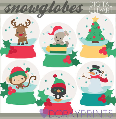 Snowglobe Christmas Clipart