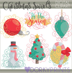 Swirly Christmas Clipart