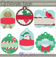 Fun Tags 1 Christmas Clipart