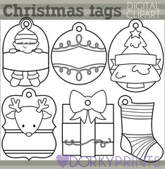 Holiday Tags 2 Christmas Clipart