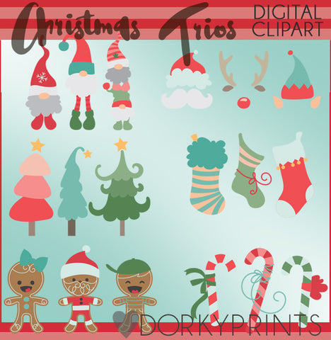 Holiday Trios Christmas Clipart