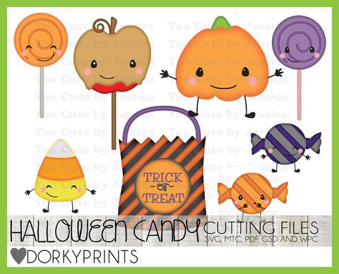Halloween Candy Cuttable Files