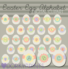 Easter Egg Alphabet Symbols Clipart