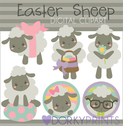Fluffy Sheep Spring Clipart
