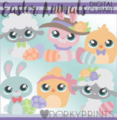 Easter Animals Spring Clipart