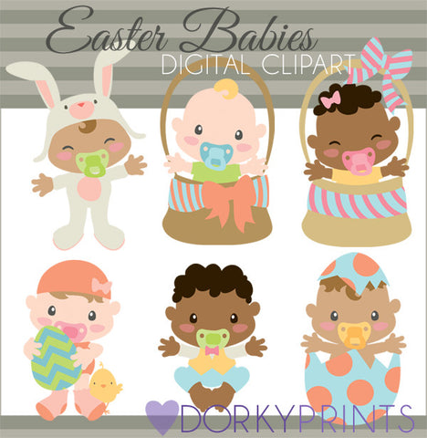 Easter Babies Spring Clipart