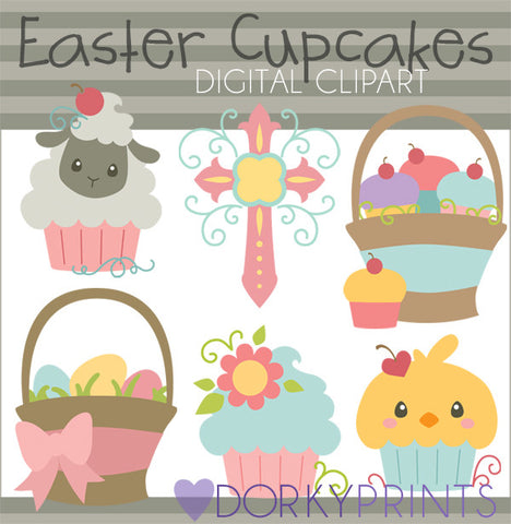Easter Cupcakes Spring Clipart