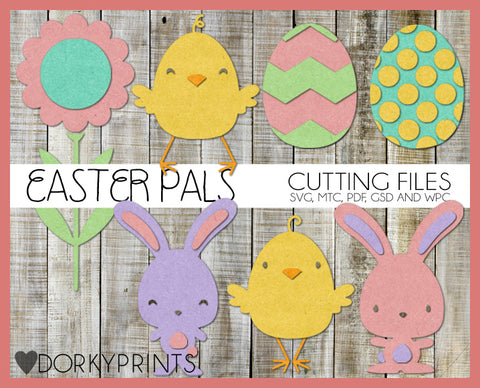 Easter Pals Cuttable Files