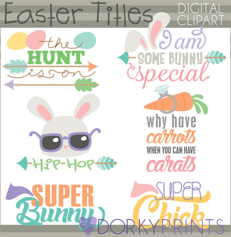 More Easter Sayings Spring Clipart Dorky Doodles