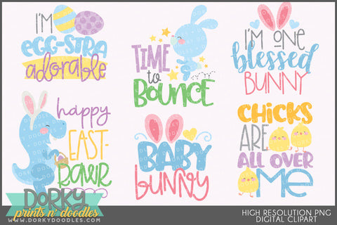Cute Easter Phrases Spring Clipart