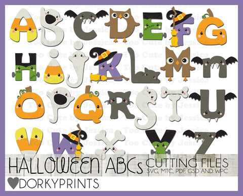 Halloween Alphabet Cuttable Files