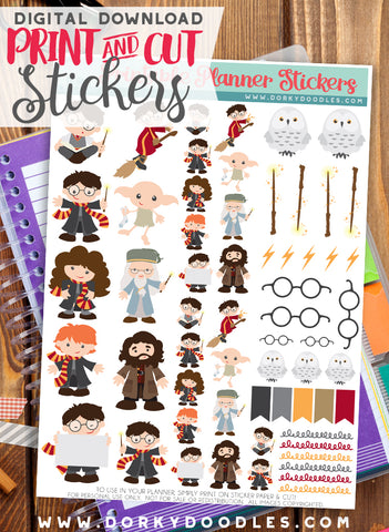 Wizard Stickers Planner Printable