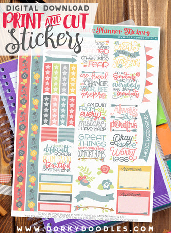 Create Your Own Sunshine Print and Cut Planner Stickers