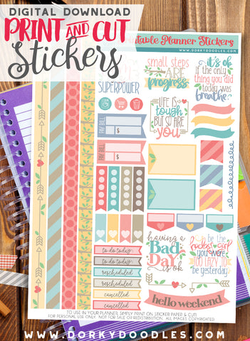 Realistically Motivating Print and Cut Planner Stickers