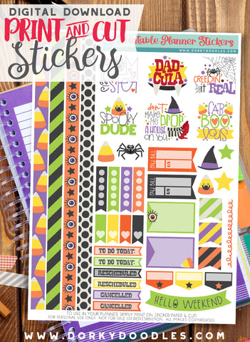 Momster Print and Cut Planner Stickers