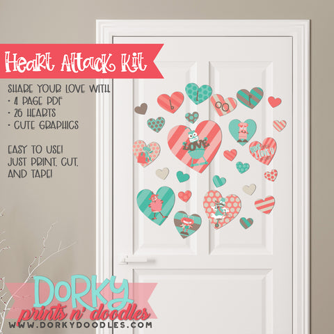 "Robot Valentine ""Heart Attack"" Holiday Printables"