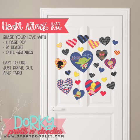 "Star Hero Valentine ""Heart Attack"" Holiday Printables"