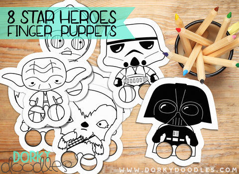 Star Heroes Finger Puppets Printables