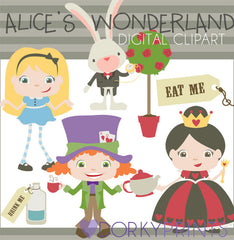 Alice in Wonderland Character Clipart