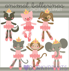 Ballerina Animals Clipart