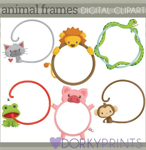 Frames out of Animals Clipart