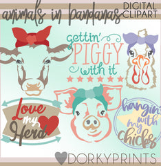 Barn Bandana Animals Clipart
