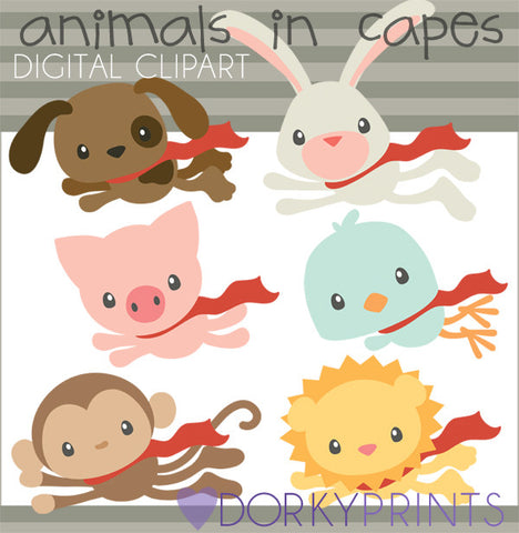 Super Hero Animals Clipart