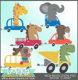 Cars and Animals Clipart