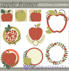 Apple Frames School Clipart