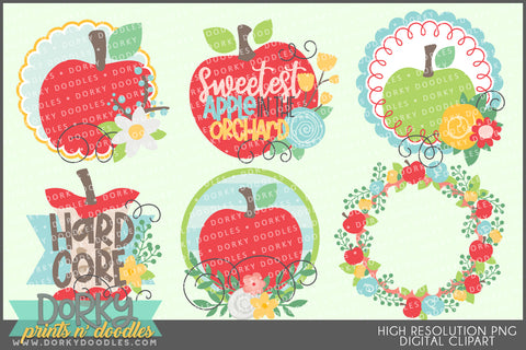 Cute Apples Food Clipart