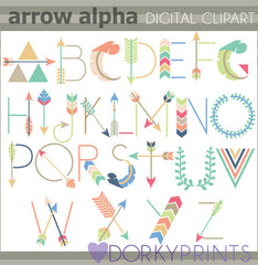 Arrow Alphabet Symbols Clipart
