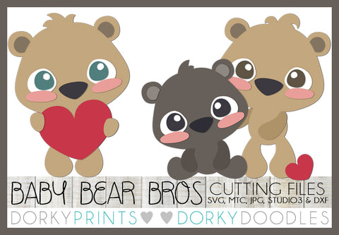 Baby Bear Brothers Cuttable Files