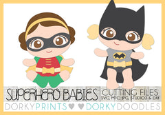 Baby Girl Superhero Cuttable Files
