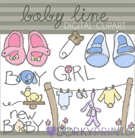 New Baby Digital Clip Art