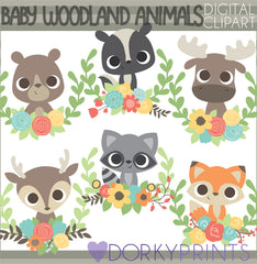 Baby Forest Animals Clipart
