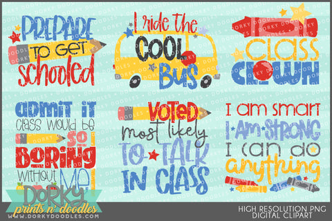 Funny Back to School Clipart