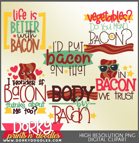 Bacon Titles Clipart