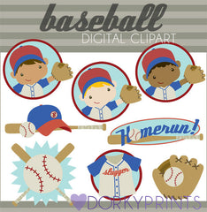 Baseball Boy Kid Clipart