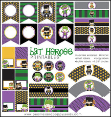 Bat Heroes Birthday Party Printables