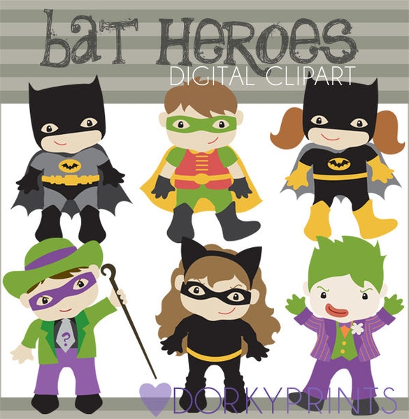 Bat Super Hero Clipart