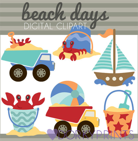 Beach Days Summer Clipart