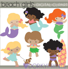 Beach Girls Summer Clipart