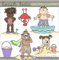 Beach Kids Summer Clipart