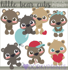 Bear Cub Animals Clipart