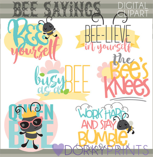 Bee Sayings Animals Clipart