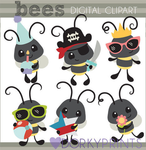 Bee Animals Clipart